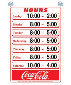 CC8004 Hours of Operation Sign (Carton of 5)