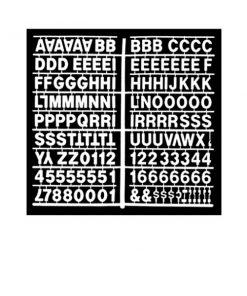 1358 – White 1″ Letter Kit (Carton of 10)