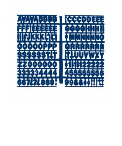 1360 – Blue 3/4″ Letter Kit (Carton of 10)