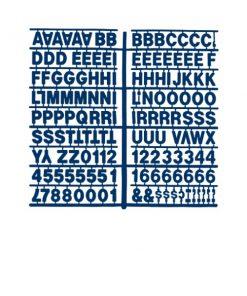 1361 – Blue 1″ Letter Kit (Carton of 10)