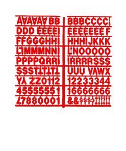 1367 – Red 1″ Letter Kit (Carton of 10)