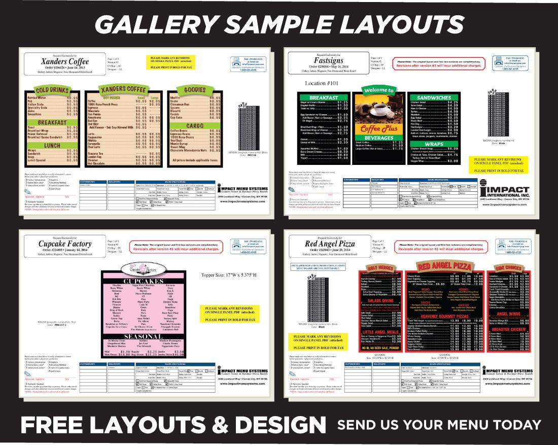 Gallery Indoor Menu Boards