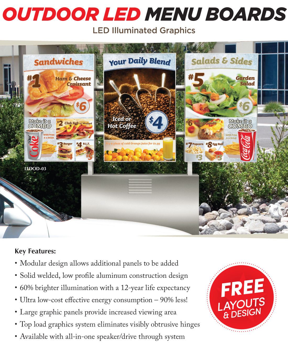 Outdoor LED Menu Boards - Coca Cola